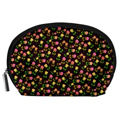 Flowers Roses Floral Flowery Accessory Pouches (large)  by Simbadda