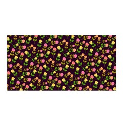 Flowers Roses Floral Flowery Satin Wrap