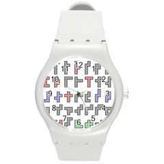 Hexominos Round Plastic Sport Watch (m)