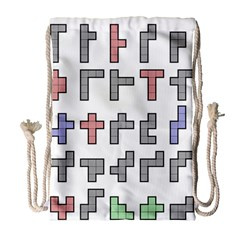 Hexominos Drawstring Bag (large)