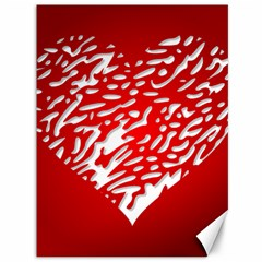Heart Design Love Red Canvas 36  X 48