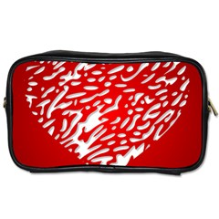 Heart Design Love Red Toiletries Bags