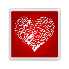Heart Design Love Red Memory Card Reader (square)
