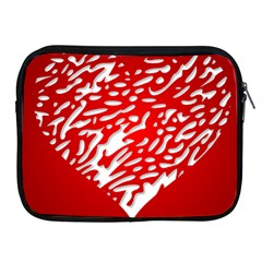 Heart Design Love Red Apple Ipad 2/3/4 Zipper Cases