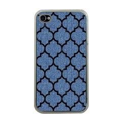 Tile1 Black Marble & Blue Denim (r) Apple Iphone 4 Case (clear) by trendistuff