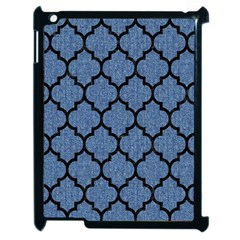 Tile1 Black Marble & Blue Denim (r) Apple Ipad 2 Case (black) by trendistuff