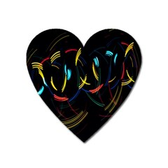 Yellow Blue Red Arcs Light Heart Magnet by Alisyart