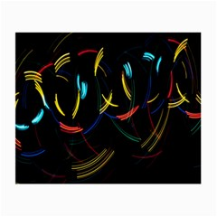 Yellow Blue Red Arcs Light Small Glasses Cloth