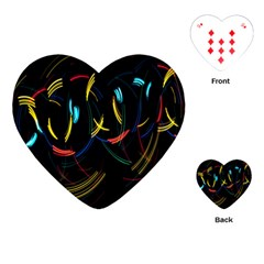 Yellow Blue Red Arcs Light Playing Cards (heart)