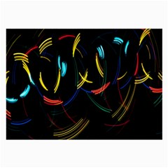 Yellow Blue Red Arcs Light Large Glasses Cloth by Alisyart