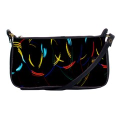 Yellow Blue Red Arcs Light Shoulder Clutch Bags by Alisyart