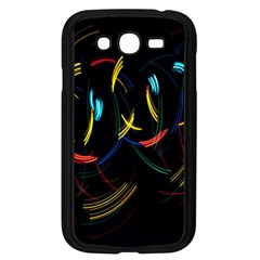 Yellow Blue Red Arcs Light Samsung Galaxy Grand Duos I9082 Case (black) by Alisyart