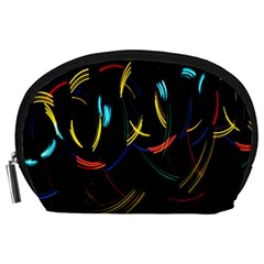 Yellow Blue Red Arcs Light Accessory Pouches (large)
