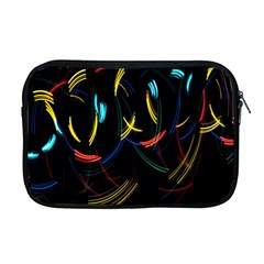 Yellow Blue Red Arcs Light Apple Macbook Pro 17  Zipper Case