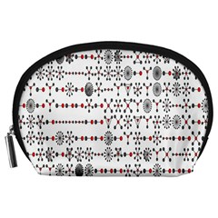 Bioplex Random Kimia Circle Grey Red Accessory Pouches (large)