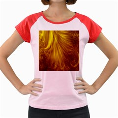 Flower Gold Hair Women s Cap Sleeve T Shirt