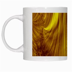 Flower Gold Hair White Mugs