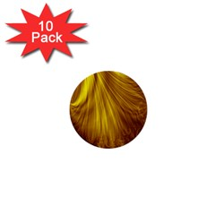 Flower Gold Hair 1  Mini Buttons (10 Pack)