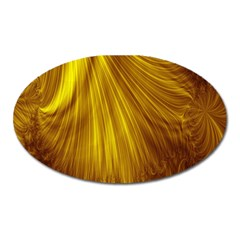 Flower Gold Hair Oval Magnet