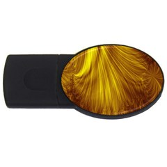 Flower Gold Hair Usb Flash Drive Oval (2 Gb)