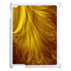 Flower Gold Hair Apple Ipad 2 Case (white)