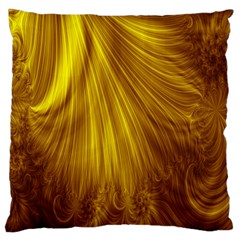 Flower Gold Hair Large Cushion Case (one Side)