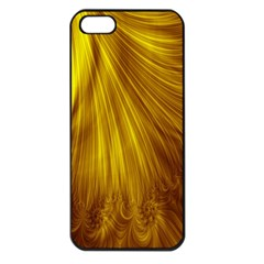 Flower Gold Hair Apple Iphone 5 Seamless Case (black)
