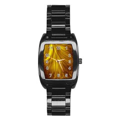 Flower Gold Hair Stainless Steel Barrel Watch by Alisyart
