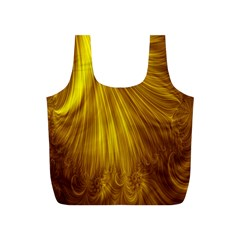 Flower Gold Hair Full Print Recycle Bags (s)  by Alisyart