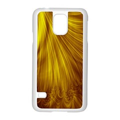 Flower Gold Hair Samsung Galaxy S5 Case (white)