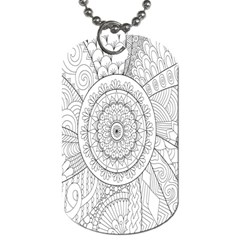 Flower Rose Flowering Sunflower Black Dog Tag (two Sides)