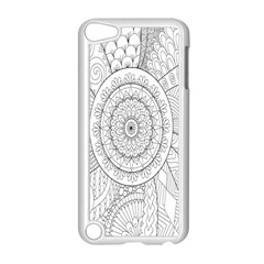 Flower Rose Flowering Sunflower Black Apple Ipod Touch 5 Case (white)