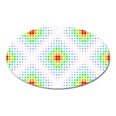 Color Square Oval Magnet