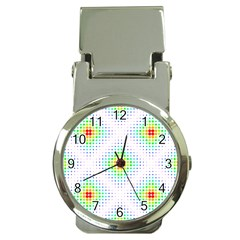 Color Square Money Clip Watches