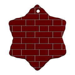 Flemish Bond Snowflake Ornament (two Sides)