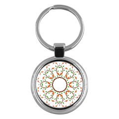 Frame Floral Tree Flower Leaf Star Circle Key Chains (round)  by Alisyart