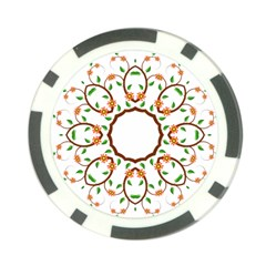Frame Floral Tree Flower Leaf Star Circle Poker Chip Card Guard by Alisyart