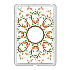 Frame Floral Tree Flower Leaf Star Circle Apple Ipad Mini Case (white) by Alisyart