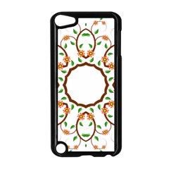 Frame Floral Tree Flower Leaf Star Circle Apple Ipod Touch 5 Case (black) by Alisyart