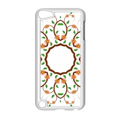 Frame Floral Tree Flower Leaf Star Circle Apple Ipod Touch 5 Case (white) by Alisyart
