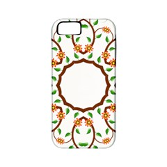 Frame Floral Tree Flower Leaf Star Circle Apple Iphone 5 Classic Hardshell Case (pc+silicone) by Alisyart