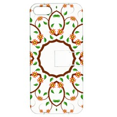 Frame Floral Tree Flower Leaf Star Circle Apple Iphone 5 Hardshell Case With Stand by Alisyart