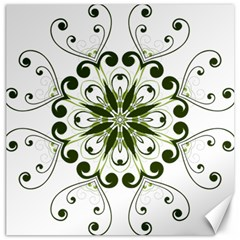 Frame Flourish Flower Green Star Canvas 20  X 20   by Alisyart