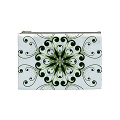 Frame Flourish Flower Green Star Cosmetic Bag (medium)