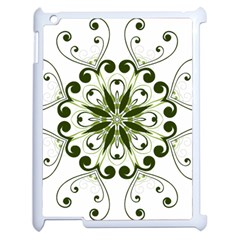Frame Flourish Flower Green Star Apple Ipad 2 Case (white)