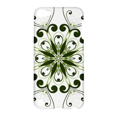 Frame Flourish Flower Green Star Apple Ipod Touch 5 Hardshell Case