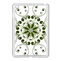 Frame Flourish Flower Green Star Apple Ipad Mini Case (white) by Alisyart