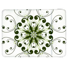 Frame Flourish Flower Green Star Samsung Galaxy Tab 7  P1000 Flip Case