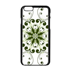 Frame Flourish Flower Green Star Apple Iphone 6/6s Black Enamel Case by Alisyart