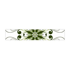 Frame Flourish Flower Green Star Flano Scarf (mini) by Alisyart
